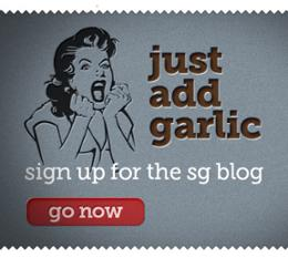 sign up for the Screaming Garlic blog